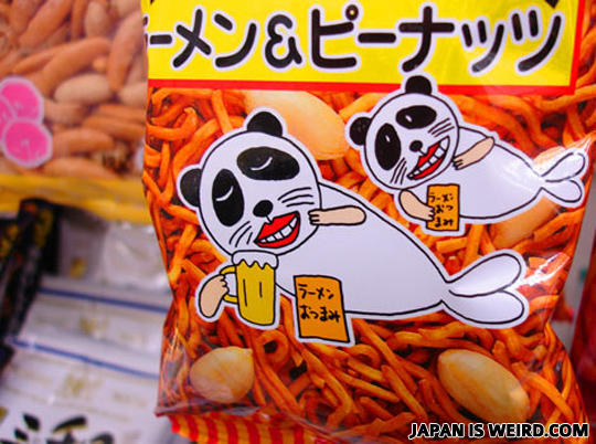 - It's a ramen crackers with peanuts, a snack meant